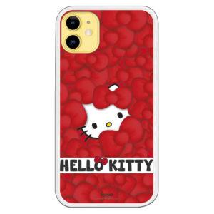Carcasa móvil Hello kitty cubierta de lazitos y letras Hello Kitty letras negras