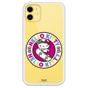 Carcasa móvil Hello Kitty montada en skite con el logo multicultural