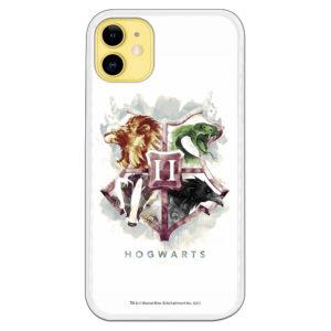 Carcasa móvil Escuela Howarts con los animales de la escuela fondo blanco