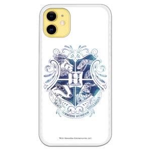 Funda móvil de Harry Potter con el escudo de Hogwarts con fondo blanco
