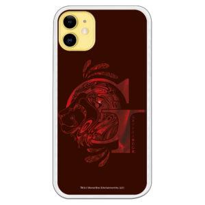Funda móvil Gryffindor Harry Potter color granate y rojo con icono del león