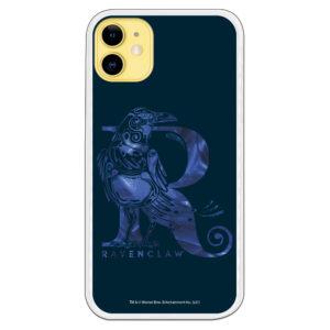 Carcasa móvil Ravenclaw icono Cuervo fondo azul oscuro