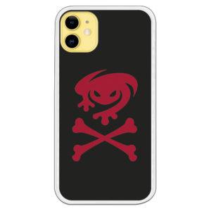 Funda móvil escudo granota rojo y fondo negro