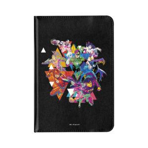 Funda Tablet 7 pulgadas universales superhéroes polipiel plegable y giratoria