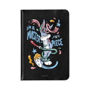 Funda Tablet 10 pulgadas Universal Tablet Polipiel negro que se puede girar de Bugs Bunny I am Master piece