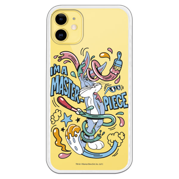 Carcasa móvil I am Master Piece con pintura con fondo transparente
