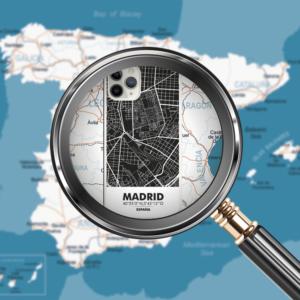 Carcasas mapas ciudad de Madrid