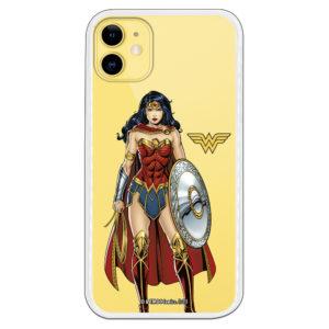 Carcasa móvil gel flexible Wonder Woman Oficial fondo transparente