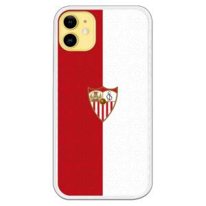 Carcasa móvil Funda Sevilla F.C Fondo Bicolor Rojo y Blanco