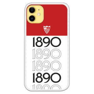Funda Sevilla 1890. Escudo Blanco Fondo Rojo. Carcasa Original