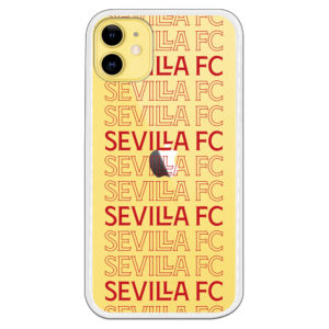 Carcasa móvil Sevilla F.C. Palabras Rojas Fondo transparente