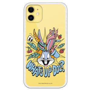 Funda móvil divertido Bugs Bunny What´s up doc¿ fresas y zanahorias con fondo transparente