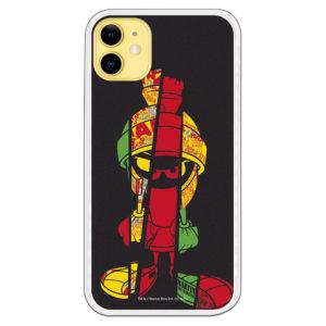 Funda móvil Marvin The Martian colores con rayas y fondo negro