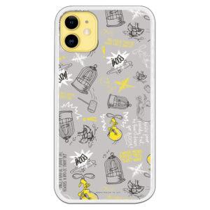 Funda móvil piolín y Silvetre gris y amarillo colección nuevo