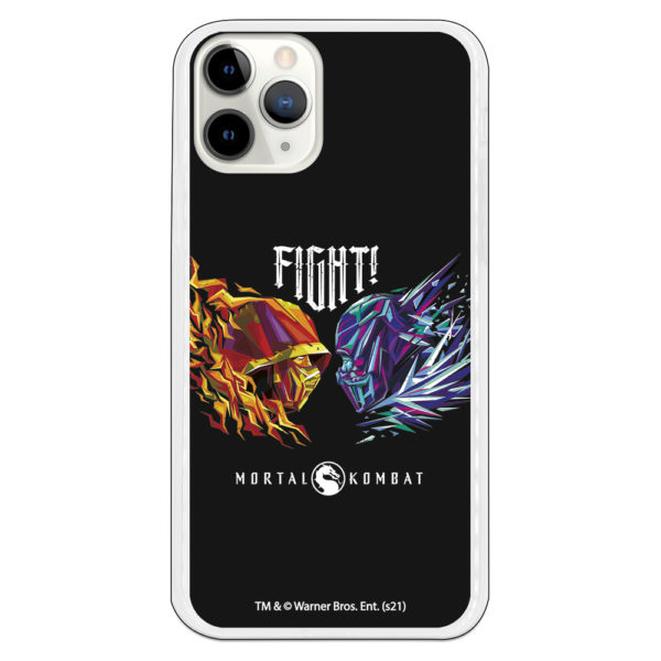 Funda móvil para Xiaomi Mortal Kombat fight silicona gel flexible con fondo negro juego para play serie hbo