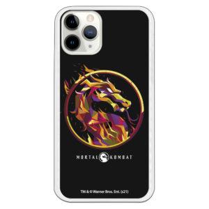 Funda móvil Mortal Kombat dragón icónico conceptual con fondo negro