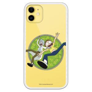 Carcasa móvil Rick y Morty apunto de morir por lava verde con burbujas fundas originales